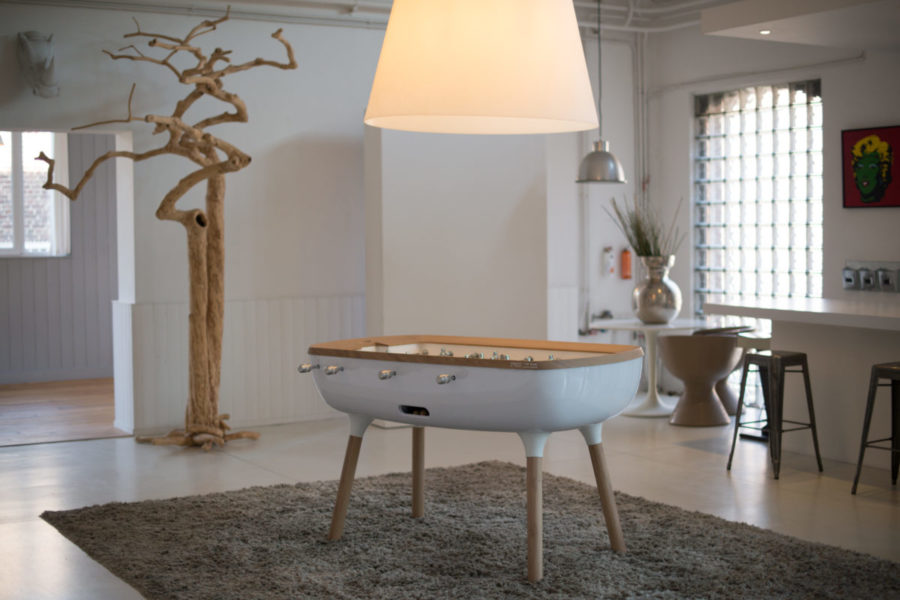 Design foosball table white - The Pure - Toulet