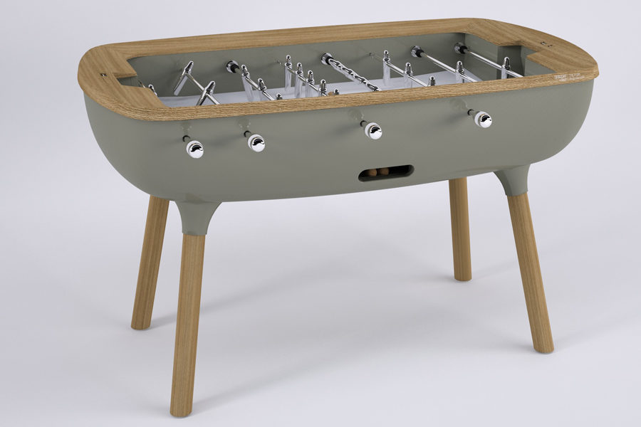 White foosball - The Pure designed by Alain Gilles