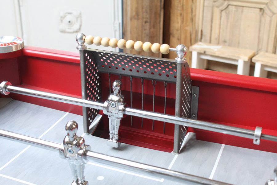 Foosball - Vintage - Babyfoot - Debuchy By Toulet - Red