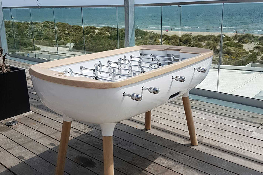 Foosball table white outdoor - The Pure