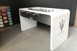 Foosball table white custom logo - T22 - Toulet