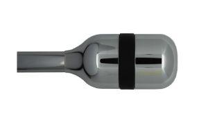 Mid long chrome - black - table football toulet
