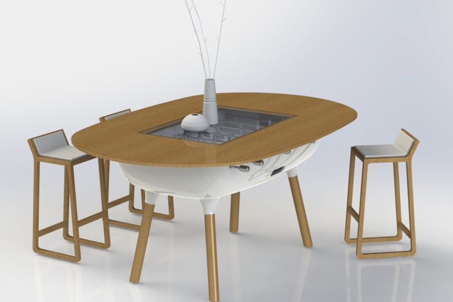 Foosball table convertible into a table design - The Pure