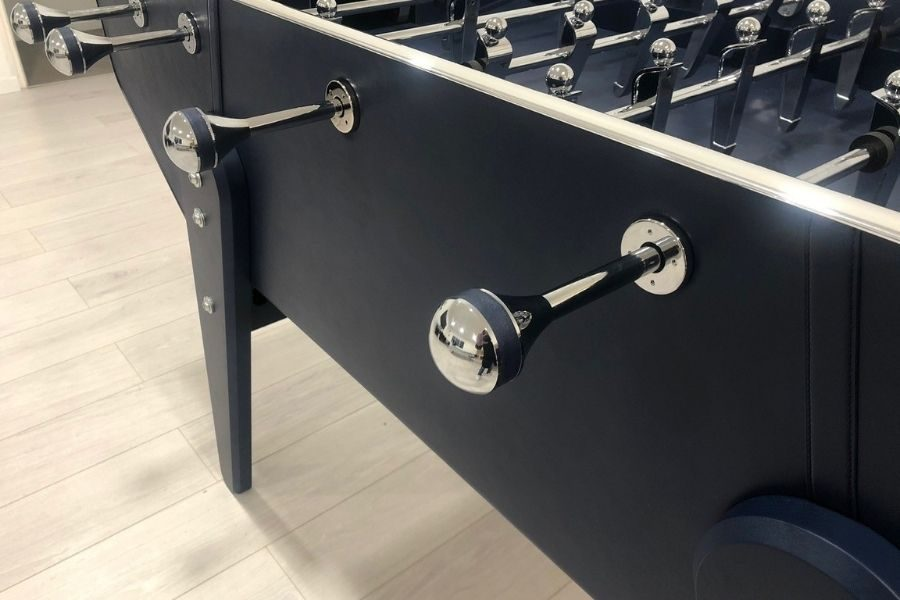 Foosball Specialist Leather navy blue leather - luxury - Debuchy By Toulet