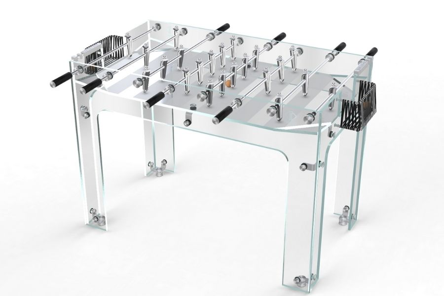 Luxury foosball table in glass and Leather - Carat - Debuchy By Toulet