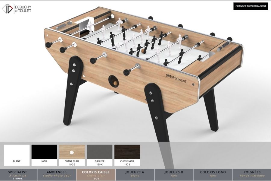 New 360 configurator online foosball table - Debuchy By Toulet