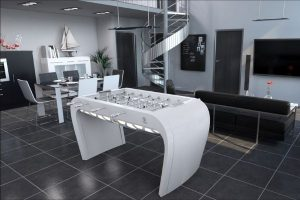 Design table foosball white Blackball - Debuchy By Toulet
